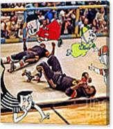 The Chipmunks Skating Roller Derby Canvas Print