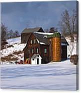 The Christmas Barn Canvas Print
