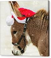 The Christmas Donkey Canvas Print