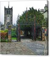 The Church Gate At Kirklands In Kendal Canvas Print