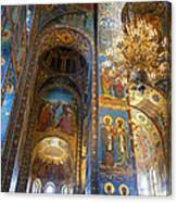 The Church Of Our Savior On Spilled Blood - St. Petersburg - Russia Canvas Print