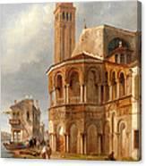 The Church Of Santa Maria E San Donato In Murano Canvas Print
