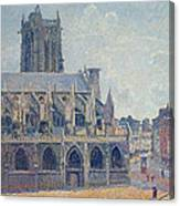 The Church Of St Jacques In Dieppe Canvas Print