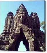 The City Gates At Angkor Canvas Print