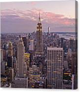 The City In The Evening Canvas Print