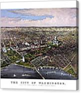 The City Of Washington Birds Eye View Canvas Print