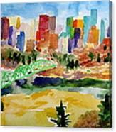 The City Skyline Canvas Print