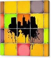 The City Splash Canvas Print
