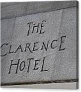 The Clarence Hotel Owned By U2 Canvas Print