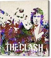 The Clash Portrait Canvas Print