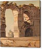 The Claudian Aquaduct Rome Canvas Print