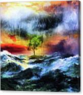 The Clearing Of The Flood Canvas Print