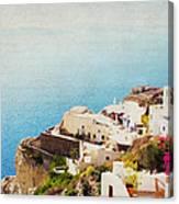 The Cliffside - Santorini Canvas Print