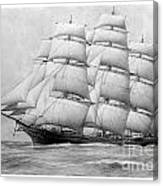 The Clippership Taeping Under Full Sail Canvas Print