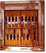 The Clothes Door Canvas Print