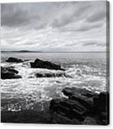 The Cloudy Day In Acadia National Park Maine Canvas Print