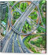The Clover Interchange (semanggi) Canvas Print