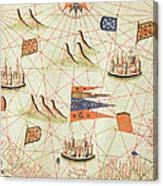 The Coast Of Tunisia And The Gulf Of Gabes, From A Nautical Atlas Of The Mediterranean And Middle Canvas Print