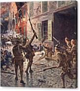 The Coldstream Guards At Landrecies Canvas Print
