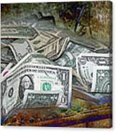 The Color Of The Money Canvas Print