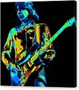 The Colorful Sound Of Mick Playing Guitar Canvas Print