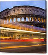 The Colosseum-blue Hour Canvas Print