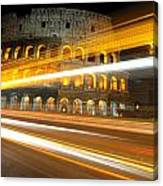The Colosseum Lights Canvas Print
