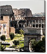 The Colosseum Through The Forum Canvas Print