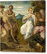 The Contest Between Apollo And Marsyas Canvas Print