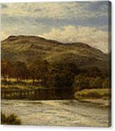 The Conway Near Bettws Y Coed Canvas Print