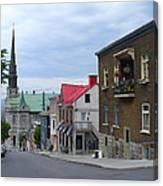 The Corner Of Rue Sainte Claire Overlooking Saint Jean Baptist Church Canvas Print