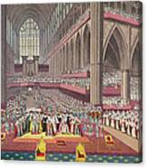 The Coronation Of King William Iv And Queen Adelaide, 1831 Colour Litho Canvas Print