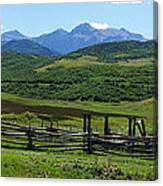 The Corral Canvas Print