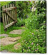 The Cottage Garden Walkway Canvas Print