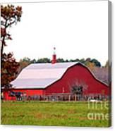 The Country Red Barn Canvas Print