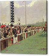 The Course At Longchamps Canvas Print