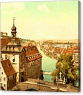 The Court House-bamberg-bavaria-germany - Between 1890 And 1900 Canvas Print