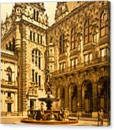 The Court House-hamburg-germany - Between 1890 And 1900 Canvas Print