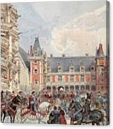 The Court In Chateaus Of The Loire Canvas Print