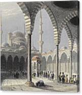 The Court Of The Mosque Of Sultan Canvas Print
