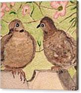 The Courtship Canvas Print