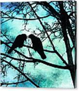 The Courtship Of Crows Canvas Print