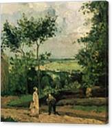 The Courtyard At Louveciennes Canvas Print