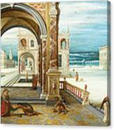 The Courtyard Of A Renaissance Palace Canvas Print
