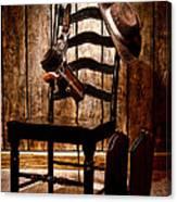 The Cowboy Chair Canvas Print