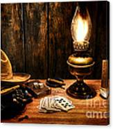 The Cowboy Nightstand Canvas Print
