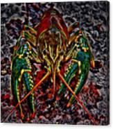 The Crawdad Digital Art Canvas Print
