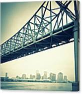 The Crescent City Connection In New Canvas Print
