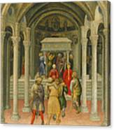 The Crippled And Sick Cured At The Tomb Of Saint Nicholas Canvas Print