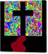 The Cross In Fauvism Canvas Print
